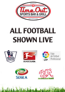 Football LIVE at TimeOut Sports Bar