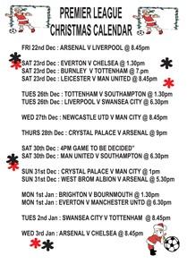 Premier League Christmas 2017