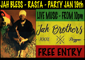 Time Out Sports Bar - Rasta Party January